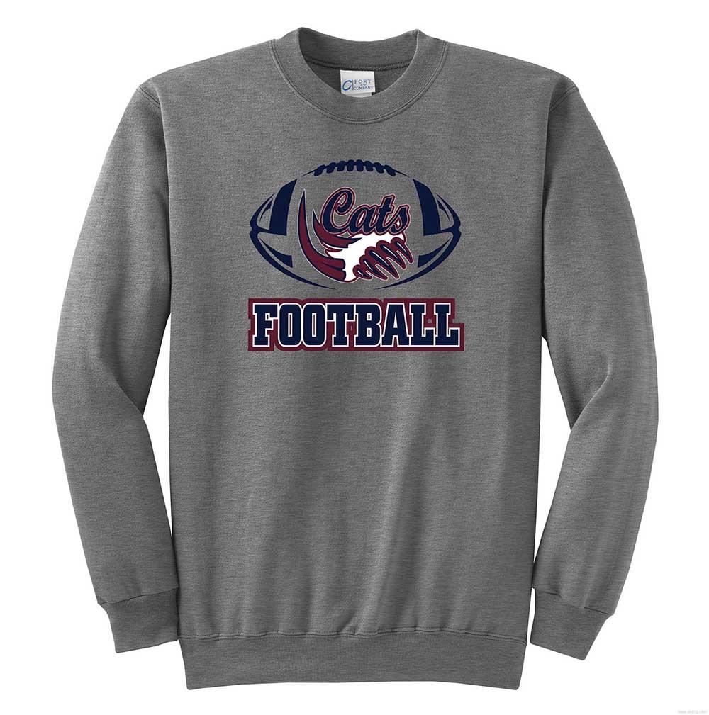 9f914155a6c3 Pop Warner Football Crew Neck Sweatshirt - Branded Sports Gear